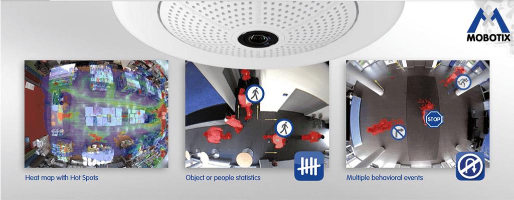 Mobotix Q26 - MxAnalytics, meer rendement uit uw bewakingscamera