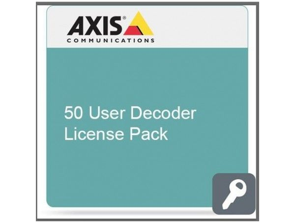 Axis H.264 +AAC decoder 50-user decoder license pack
