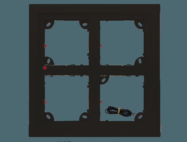 Mobotix Quad frame - zwart