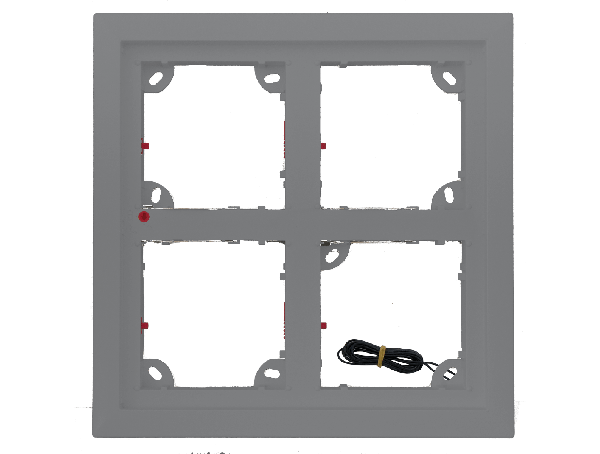 Mobotix Quad frame - zilvergrijs