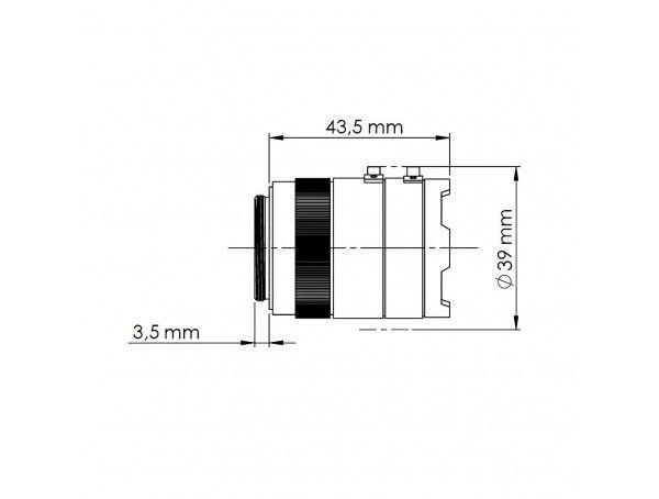Mobotix Sensor Module 6MP, CSVario 4,5-10 mm (zwart/wit), behuizing wit