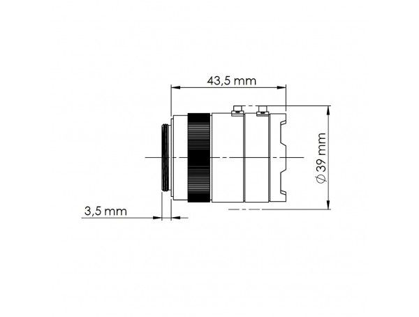 Mobotix Sensor Module 6MP, CS-Mount (zwart/wit), behuizing wit