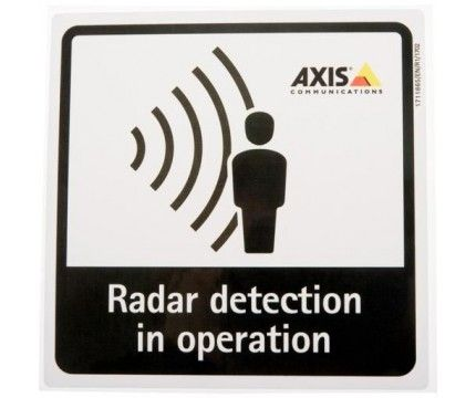 Axis Radar Detection Sticker