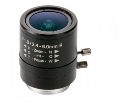 Axis Manual Iris Varifocal Lens 2.4-6 mm