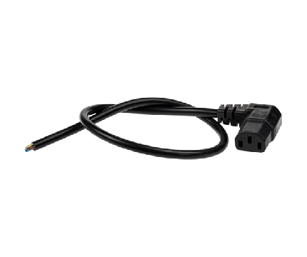Axis Mains Cable Angle C13-Open 0.5 m