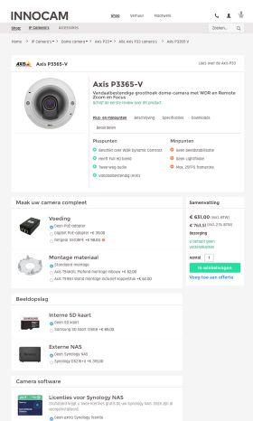 Koop direct een camera in de webwinkel van Innocam